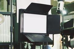 Iluminação contínua Iluminação video Iluminação video do diodo emissor de luz fotografia de stock