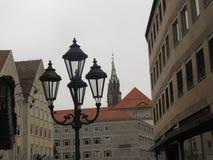 Iluminação da lanterna da cidade foto de stock
