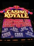 Iluminação da noite de Royale do casino de Las Vegas, Foto de Stock Royalty Free