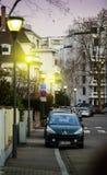 Iluminação da rua de Strasbourg França Imagem de Stock Royalty Free