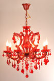 Iluminação de cristal vermelha Imagem de Stock