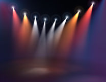 Iluminação de estágio Foto de Stock Royalty Free