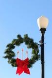 Iluminação de rua do Natal Imagens de Stock