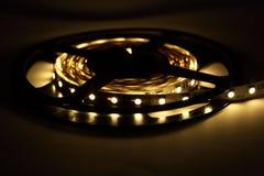 Iluminação de tira do diodo emissor de luz fotos de stock royalty free