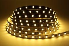 Iluminação de tira do diodo emissor de luz fotografia de stock royalty free
