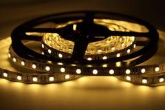 Iluminação de tira do diodo emissor de luz imagem de stock