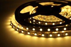 Iluminação de tira do diodo emissor de luz foto de stock royalty free