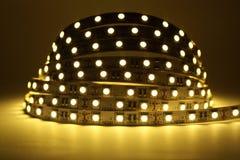 Iluminação de tira do diodo emissor de luz foto de stock