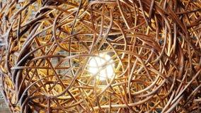 Iluminação decorativa com rattan Imagens de Stock