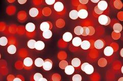 Iluminação do borrão do vermelho e do branco imagem de stock royalty free