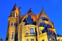 Iluminação do castelo imagem de stock royalty free