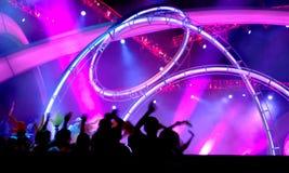 Iluminação do concerto fotos de stock