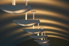 Iluminação do corredor Fotografia de Stock Royalty Free