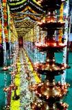 Iluminação do devoto da especialidade no festival fotografia de stock