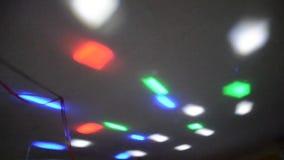 Iluminação do disco video estoque