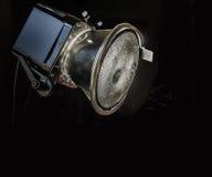 Iluminação do estúdio da luz do estroboscópio do flash do equipamento da foto Fotos de Stock Royalty Free