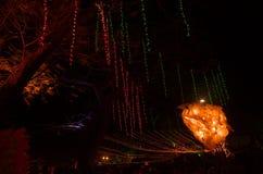 Iluminação do festival de arte em India-1 Foto de Stock