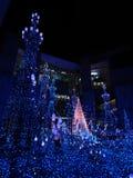 Iluminação 2018 do inverno de Shiodome do Caretta fotografia de stock