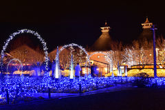 Iluminação do inverno em Mie, Japão fotografia de stock