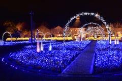 Iluminação do inverno em Mie, Japão foto de stock