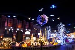 Iluminação do Natal fotos de stock royalty free