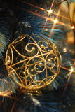 Iluminação do Natal Fotografia de Stock