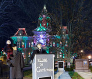 Iluminação do Natal de Cambridge Ohio foto de stock