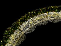 Iluminação do Natal na noite imagens de stock royalty free