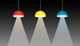 Iluminação Downlight, ilustração do projeto Foto de Stock