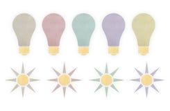 Iluminação e sóis do papel Foto de Stock