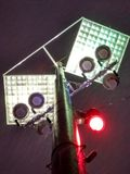 Iluminação exterior da noite fotos de stock royalty free