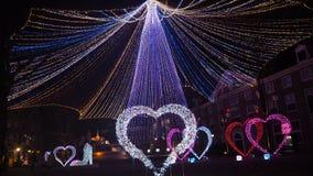 Iluminação fantástica do tema do coração foto de stock royalty free