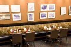 Iluminação interior do restaurante foto de stock royalty free