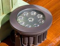 Iluminação moderna do diodo emissor de luz para a iluminação de construção da fachada Imagens de Stock