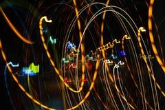 Iluminação na estrada da noite Imagens de Stock Royalty Free
