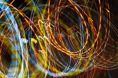Iluminação na estrada da noite Imagem de Stock