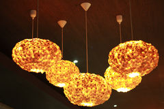 Iluminação no restaurante Imagens de Stock