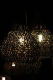 Iluminação no restaurante Imagem de Stock Royalty Free