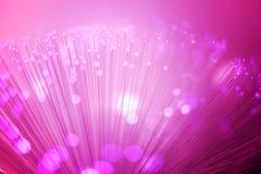 Iluminação roxa da fibra óptica fotografia de stock