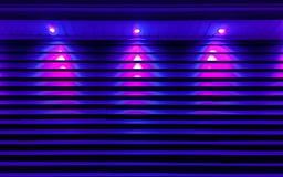 Iluminação ultravioleta da construção fotografia de stock