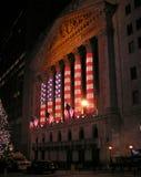 Iluminações da bandeira americana Fotografia de Stock