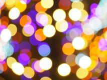 Iluminações da cidade - efeito do bokeh imagens de stock royalty free