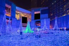 Iluminações da estação do Natal e do inverno do Tóquio imagem de stock