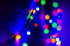 Iluminações do Natal Fotos de Stock Royalty Free