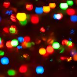 Iluminações festivas Imagens de Stock Royalty Free