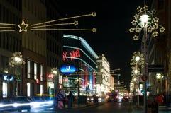 Iluminações Friedrichstrasse do Natal Fotos de Stock Royalty Free