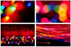 Ilumina a coleção do fundo Imagens de Stock