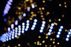 Ilumina o bokeh fotografia de stock
