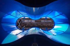 Iluminación azul Imagen de archivo