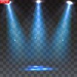 Iluminación brillante con los proyectores ilustración del vector